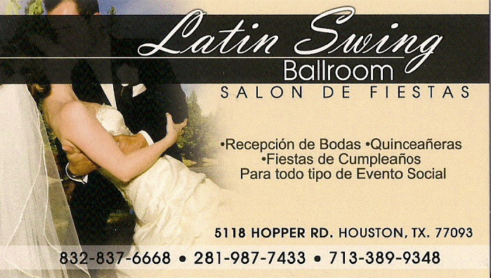 Latin Swing Ballroom, 5118 Hopper Rd., Houston, Texas, 77093, United States